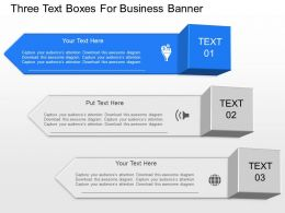 jj Three Staged Business Banner Diagram And Icons Powerpoint Template