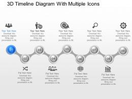 jk 3d Timeline Diagram With Multiple Icons Powerpoint Template