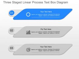 jk Three Staged Linear Process Text Box Diagram Powerpoint Template