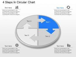 jm 4 Steps In Circular Chart Powerpoint Template