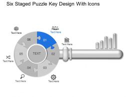 Jm Six Staged Puzzle Key Design With Icons Powerpoint Template