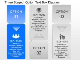 jm Three Staged Option Text Box Diagram Powerpoint Template