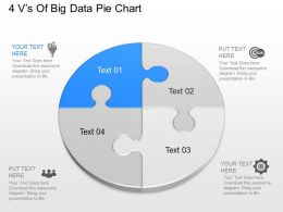 jn 4 Vs Of Big Data Pie Chart Powerpoint Template