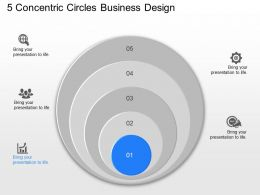 jo 5 Concentric Circles Business Design Powerpoint Template