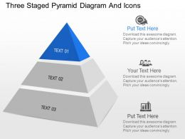 jo Three Staged Pyramid Diagram And Icons Powerpoint Template
