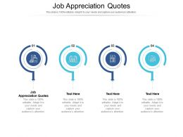 Job Appreciation Quotes Ppt Powerpoint Presentation Show Objects Cpb