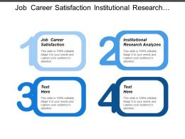 Job Career Satisfaction Institutional Research Analyzes Turnover Analysis