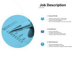 Job Description Development Ppt Powerpoint Presentation Infographics