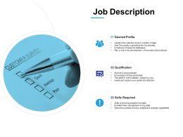 Job Description Development Ppt Powerpoint Presentation Infographics