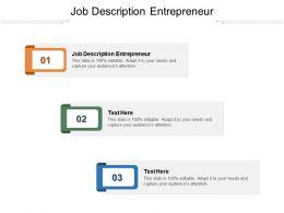 Job Description Entrepreneur Ppt Powerpoint Presentation Professional Guidelines Cpb