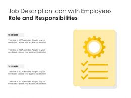 Job Description Icon With Employees Role And Responsibilities