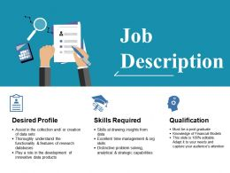Job Description Ppt Layouts