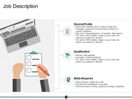 Job Description Ppt Powerpoint Presentation Summary Vector