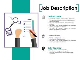 Job Description Ppt Summary Demonstration