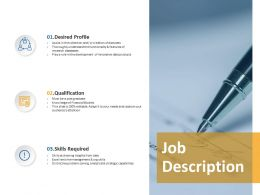 Job Description Qualification Ppt Powerpoint Presentation Gallery