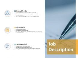 Job Description Qualification Ppt Powerpoint Presentation Gallery