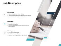 Job Description Qualification Ppt Powerpoint Presentation Ideas