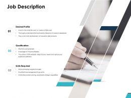 Job Description Qualification Ppt Powerpoint Presentation Ideas
