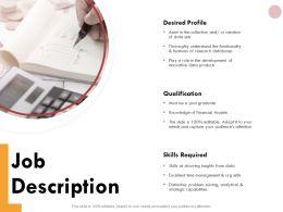 Job Description Qualification Ppt Powerpoint Presentation Inspiration Templates