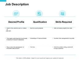 Job Description Qualification Ppt Powerpoint Presentation Portfolio Professional