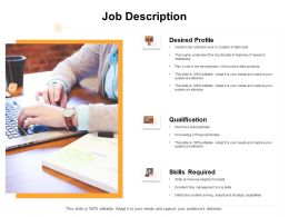 Job Description Qualification Ppt Powerpoint Presentation Slides Master Slide