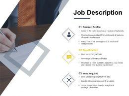 Job Description Qualification Ppt Powerpoint Presentation Summary Graphics Download