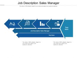 Job Description Sales Manager Ppt Powerpoint Presentation Icon Layout Cpb