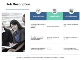 Job Description Skills Ppt Powerpoint Presentation Pictures Introduction
