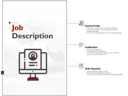 Job Description Skills Required Ppt Powerpoint Presentation File Outline