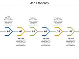 Job Efficiency Ppt Powerpoint Presentation Infographic Template Icon Cpb