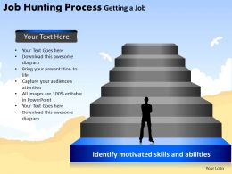 Job Hunting Process Getting a Job Powerpoint Slides And Ppt Templates DB