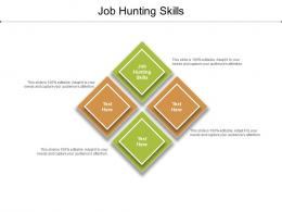 Job Hunting Skills Ppt Powerpoint Presentation Ideas Examples Cpb