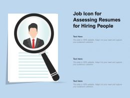 Job Icon For Assessing Resumes For Hiring People