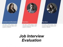 Job Interview Evaluation Ppt Powerpoint Presentation Icon Display Cpb