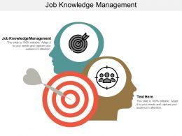 Job Knowledge Management Ppt Powerpoint Presentation File Portrait Cpb