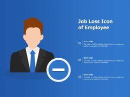 Job Loss Icon Of Employee