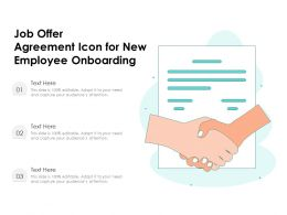 Job Offer Agreement Icon For New Employee Onboarding