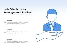 Job Offer Icon For Management Position