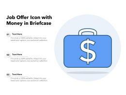 Job Offer Icon With Money In Briefcase