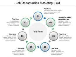 Job Opportunities Marketing Field Ppt Powerpoint Presentation Ideas Example Cpb
