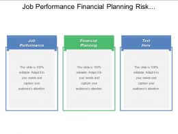 Job Performance Financial Planning Risk Management Business Marketing Methods