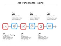 Job Performance Testing Ppt Powerpoint Presentation Summary Inspiration Cpb