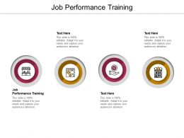 Job Performance Training Ppt Powerpoint Presentation Pictures Microsoft Cpb