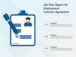 Job Plan Report For Employment Contract Agreement