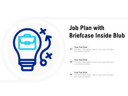 Job Plan With Briefcase Inside Bulb