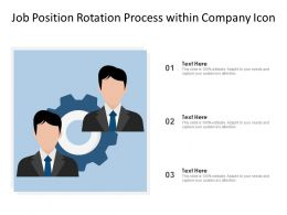 Job Position Rotation Process Within Company Icon