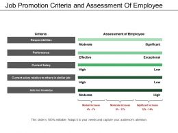 Job Promotion Criteria And Assessment Of Employee