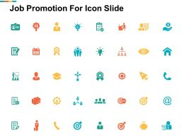Job Promotion For Icon Slide Goal I34 Ppt Powerpoint Presentation File Background Images