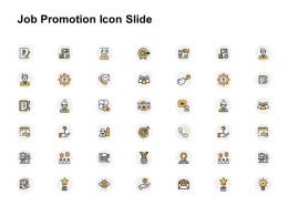 Job Promotion Icon Slide Gears Ppt Powerpoint Presentation Professional Ideas
