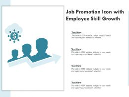 Job Promotion Icon With Employee Skill Growth
